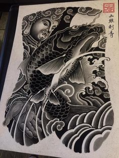 Japanese Tattoo Symbols, Japanese Tattoo Art, Japanese Tattoo Designs, Koi Dragon Tattoo, Koi Fish Tattoo, Full Tattoo, Full Back Tattoos, Face Painting Tutorials, Face Painting Designs
