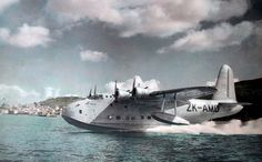 TEAL (Tasman Empire Airways Lmited) Sandringham Flying Boat ZK-AMD 'Australia'. Delivered to TEAL 5 August 1946 sold to QANTAS and registered as VH-EBX on 13 April 1950.