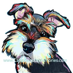 "Art Dogs, ""All of my paintings are created in high resolution on my computer. They are printed on photo glossy paper so you can get the best color and quality. Sizes up to 11x11"" will be mounted on a backing and"""