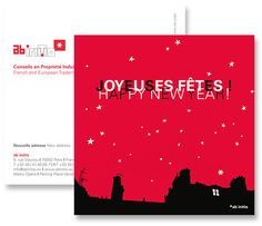Greeting card for Ab Initio - French and European Trademark & Design Attorneys © intwodesign