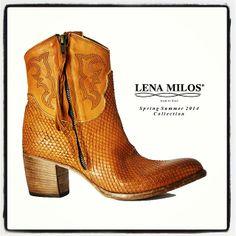 LENA MILOS the best vintage boot for spring summer 2014 #lenamilos #musthave #bestseller #phyton #leather #tex #heels #springsummer #collection #original #brand #true #chic #luxury #boutique #bestseller
