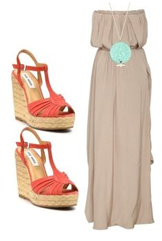 Outfit ~ maxi dress and platforms...