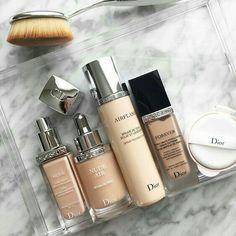 And my Dior foundation collection keeps growing. - Dior Makeup - Ideas of Dior Makeup - And my Dior foundation collection keeps growing. Make Up Kits, Dior Makeup, Skin Makeup, Makeup Brands, Best Makeup Products, Make Up Brush, Dior Foundation, Make Up Marken, Farmasi Cosmetics