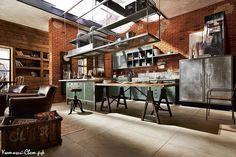 Кухни в промышленном стиле. 100 шикарных кухонных идей