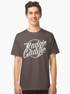Radgie Gadgie is a fantastic #Geordie slang phrase meaning an angry or bad tempered man! Classic fit, ethically sourced t-shirt, also available in many more styles of #hoodies and #tshirts #redbubble #slang #dialect #Newcastle