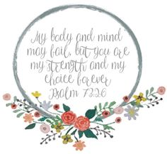 The Phat Girls do...: Scripture Picture: Psalm 73:26 FREE PRINTABLE