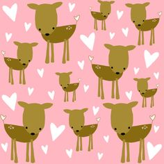 Heart Deer Fabric | Flickr – Compartilhamento de fotos!