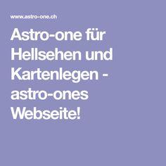 Astro-one für Hellsehen und Kartenlegen - astro-ones Webseite!