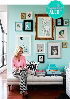 love all of the photos in this post. like the idea of matching the background of framed prints with the wall color!