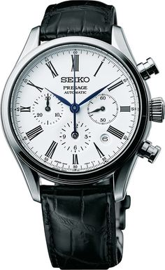 If you're into watches and haven't heard about the Presage Chronograph from Seiko, we're sorry to be the ones to tell you, but you've been living under a rock. It was, without doubt, the winning curveball of and for good reason. It ticked all the bo Stylish Watches, Luxury Watches For Men, Cool Watches, Simple Watches, Seiko Presage, Latest Watches, Seiko Men, Hand Watch, Seiko Watches