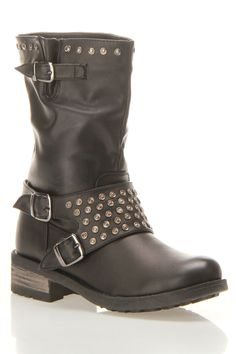 Mirelle Buckle Studded Boot  not my style but, kinda cool i guess