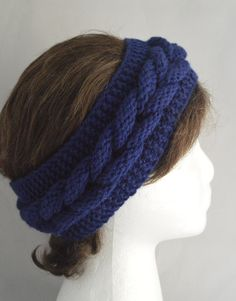 Sale 2 for 25.99 Knitted Headband Knit Headband Knit Head Band Ear Warmers Cable Knit Headband (15.99 USD) by GiftofFashion