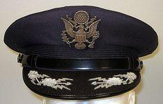 08a28e8751c04 USAF US Air Force Enlisted Honor Guard Dress Hat Cap 7 5/8 or 61 | Military Dress  Hats & Caps | Hats, Dress hats, Military dresses