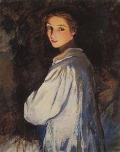 ¡Otra mujer talentosa! Autorretrato...la 1era. mujer pintora rusa reconocida. (1884-sep.19-1967)
