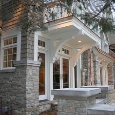 Traditional Exterior Design, Pictures, Remodel, Decor and Ideas - page 36 Traditional Exterior, Traditional House, Exterior House Colors, Exterior Design, Brick Design, Garage Design, House Front, My House, Front Porch