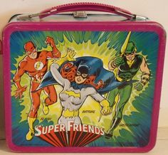 Image archive of Lunch Boxes from the & Brought to you by Vintage Toy Archive. Retro Lunch Boxes, Lunch Box Thermos, Bento Box Lunch, Retro Toys, Vintage Toys, School Lunch Box, Dc Comics Superheroes, Saturday Morning Cartoons, Old Toys