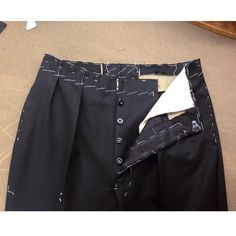 Heavy Hollywood pants fitting.