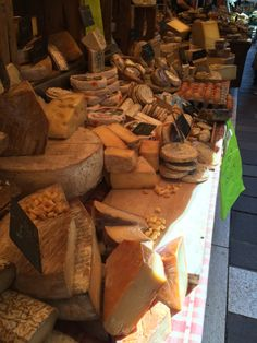 Cheese Stall, Sunday Market, Annecy, France
