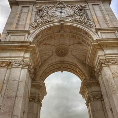 The Rua Augusta Arch in Lisbon's Praça do Comércio was built to commemorate the city's reconstruction after the 1755 earthquake.