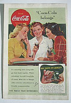 1941 Coca Cola (Coke) With 3 Women Talking
