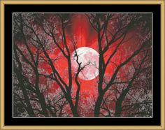 New Moon Series - Red Moon II [NFP-175] - $16.00 : Mystic Stitch Inc, The fine art of counted cross stitch patterns