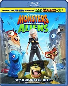 Aliens (Blu-ray Disc, for sale online Dreamworks Studios, Dreamworks Animation, D Day Movie, The Motley Crew, Monsters Vs Aliens, Comedy Actors, Kiefer Sutherland, Audio, Will Arnett