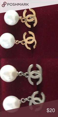 Beautiful pearl earrings in silver or gold setting Beautiful white pearl earrings in yellow gold setting handwork  Jewelry Earrings
