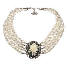 Perlen-Collier Sophia (weiß)