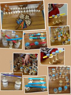 "Balancing at the Finger Gym from Rachel ("",) Stem Learning, Play Based Learning, Early Learning, Gross Motor Activities, Infant Activities, Preschool Activities, Preschool Learning, Experiment, Heuristic Play"
