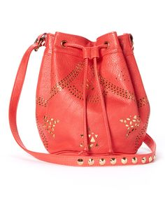 This Red Zuma Drawstring Crossbody Bag by Culture Riot is perfect! #zulilyfinds