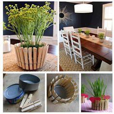 Clothespin Transformed Into Flower Pot - DIY
