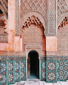 """spring,proverb-Inscription: """"You who enter my door, may your highest hopes be exceeded"""" 🇲🇦🙏☀️marrakech spring proverb Oh The Places You'll Go, Places To Travel, Travel Destinations, Places To Visit, Cantilever Architecture, Islamic Architecture, Architecture Design, Morocco Travel, Adventure Is Out There"""