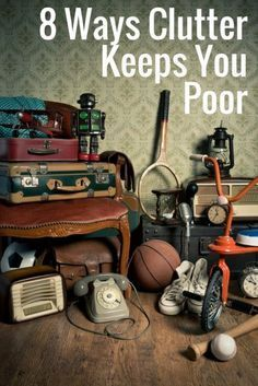 8 Ways Clutter Keeps You Poor - Finance tips, saving money, budgeting planner Blue Ray, Planners, Clutter Solutions, Clutter Control, Declutter Your Life, Clutter Organization, Organization Ideas, D House, Frugal Living Tips