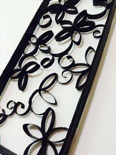 Cómo hacer un cuadro decorativo con rollos de papel de baño - Hola Titi DIY