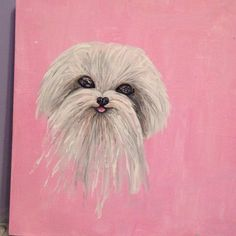 A personal favorite from my Etsy shop https://www.etsy.com/listing/228411696/maltese-dog-by-nefertara
