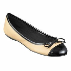 Round toe flat with bow accent.  Rubber sole.  This style is available exclusively @ Nine West Stores  ninewest.com.