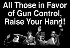 "... Those In Favor of Gun Control, Raise Your Hand "" OBAMA. SS ( Detail"