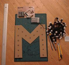 matériel DIY: Une lettre lumineuse rétro