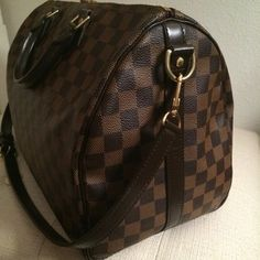 Louis Vuitton Speedy 35 Satchel in Damier Ebene
