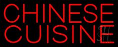 Red Chinese Cuisine Neon Sign 13 Tall x 32 Wide x 3 Deep, is 100% Handcrafted with Real Glass Tube Neon Sign. !!! Made in USA !!!  Colors on the sign are Red. Red Chinese Cuisine Neon Sign is high impact, eye catching, real glass tube neon sign. This characteristic glow can attract customers like nothing else, virtually burning your identity into the minds of potential and future customers. Red Chinese Cuisine Neon Sign can be left on 24 hours a day, seven days a week, 365 days a year...