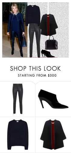 """""""ARMA Cadiz Plonge Black // Loose fit lamb leather pants"""" by lellelelle ❤ liked on Polyvore featuring Arma, Balenciaga, Acne Studios, Burberry and Louis Vuitton"""