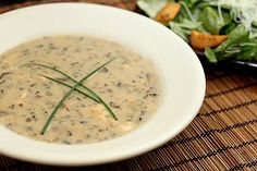 mushroom brie bisque.  we have this at my work, but now i can make my own!