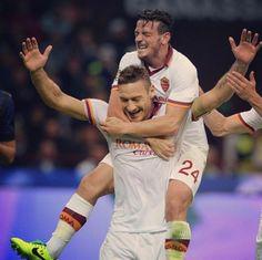 As Roma Nel Cuore Roma Francesco Totti Alessandro Florenzi AS Roma Serie A Daje Roma Daje!