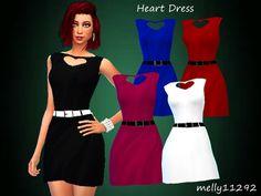Sims 4 red dress elegant