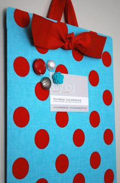 Magnet board Love this idea bought one for my mom while in MI I'm sure it can be done homemade.