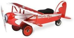 Morgan Cycle Ace Flyer BiPlane Scootster Ride on Toy Steel Construction