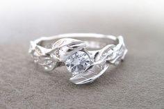 Leaf Diamond Engagement Ring, Engagement Leaf Ring, Leaves Engagement Ring, Leaf Engagement Ring, Natural Engagement Ring, Floral Engagement by Benati
