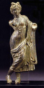 """Venus Genetrix,"" Roman, bronze, 6 5/8 inches high, circa 1st Century A.D."
