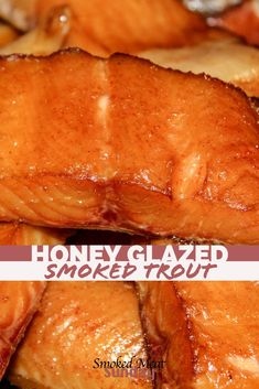 Honey Glazed Smoked Trout – Smoked Fish Recipe – Smoked Fish Brine – Dry Brine for Trout – Smoked Salmon – Dry Brine – Brine for Fish – Pellet Grill Recipes – Smoked Food – Traeger Recipes - A Fishing Guide's Smoked Trout Recipe Smoked Salmon Brine, Smoked Salmon Recipes, Smoked Trout Brine Recipe, Traeger Smoked Salmon, Traeger Recipes, Grilling Recipes, Seafood Recipes, Meat Recipes, Lake Trout Recipes