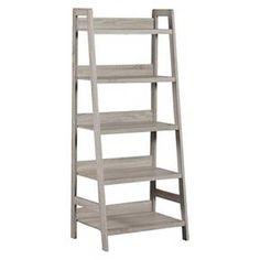 5 Shelf Bookcase Grey - Linon Home Decor : Target